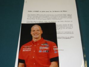 ORECA/PLAYSTATION Didier Andre 2000 Press release with photo